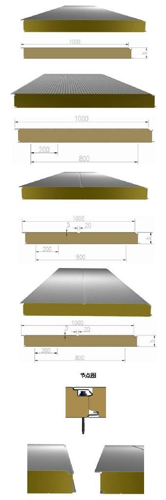 杭州不鏽鋼彩鋼岩棉夾芯板 4