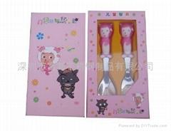 喜羊羊儿童卡通勺叉二件套