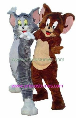 Tom and Jerry mascot Costume Cartoon characters Costume 1