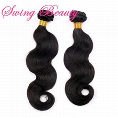 100% Virgin Brazilian Remy Natural Human Hair Extension Weft