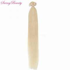 Pre-bonded Keratin I U tip Flat tip Natural Remy Human Hair Extension
