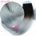 Tape on PU Skin Weft Remy Human Hair Extensions Super Strong Adhesive Tapes