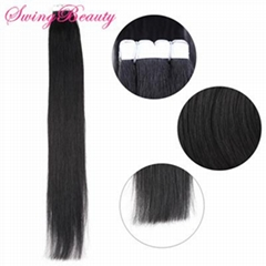 Mini Adhesive Tape In Natural Indian Remy Hair Extension