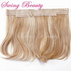 New Flip in Human Hair Extension P27/613 Halo Hair Weaving