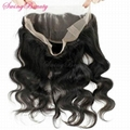 360 Lace Frontal Closure Remy Human Hair Extension Natural Weavings