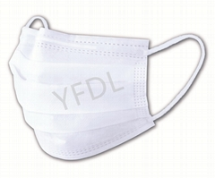 Disposable 3 layers non-woven fabric mouth mask