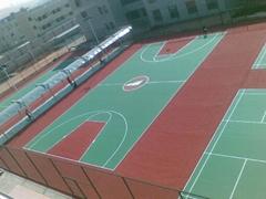 承建丙烯酸籃球場