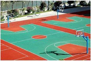 承建丙烯酸籃球場 2