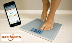 Acewits smart scale w/ Large Backlit Display and Step-On Technology