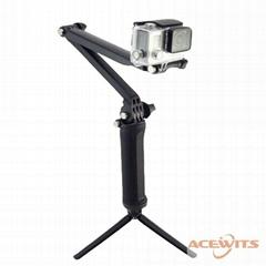 Gopro 3-Way Camera Grip Extension Arm Tripod