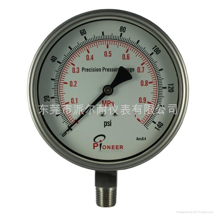 不锈钢精密压力表 1