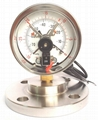 Diaphragm pressure gauge with electrical
