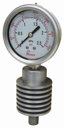 PIONEER牌63mm耐高温压力表 1