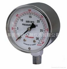 Pressure gauges with capsule elements