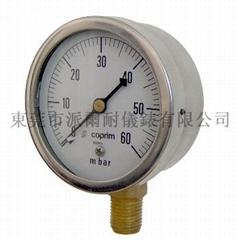 Millibar gauges with capsule elements