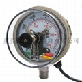 Pressure gauge with electric contact