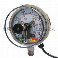 100mm不鏽鋼電接點壓力表