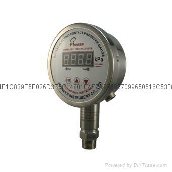 PIONEER高精度100mm遠程數顯壓力表 3