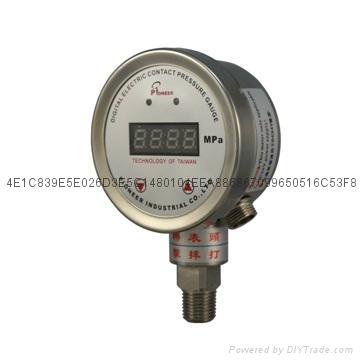 100mm數顯電接點壓力表 3