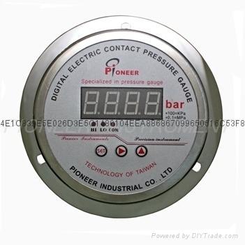 Digital display contact pressure gauge  6