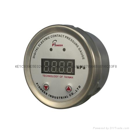 Digital display contact pressure gauge  7