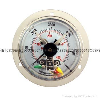 100mm不锈钢电接点压力表 4