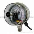 100mm不锈钢电接点压力表 5