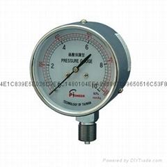 76mm过压防止型膜盒压力表