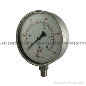 76mm过压防止型微压表 4