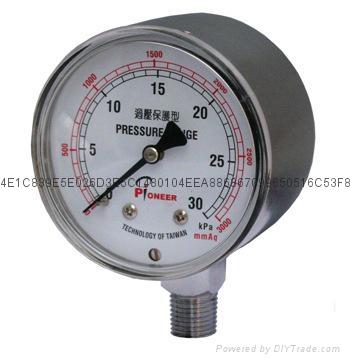76mm过压防止型微压表 5