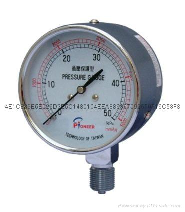 76mm过压防止型微压表 8