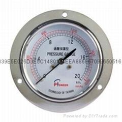 Pioneer牌76mm过压保护型膜盒微压表厂家直销