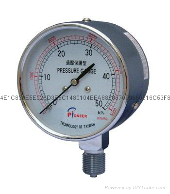 76mm过压保护型膜盒微压表
