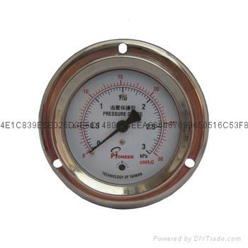 PIONEER牌过压防止型76mm微压表 12