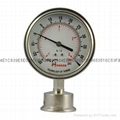 Stainless steel diaphragm gressure gauge