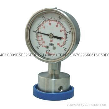 不锈钢隔膜压力表 4