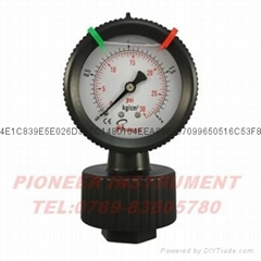 优质Pioneer牌63mm耐酸碱全塑PP隔膜压力表