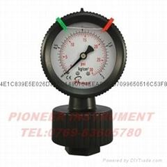 63mm單面充油式PP隔膜壓力表