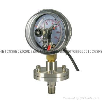电接点隔膜压力表 4