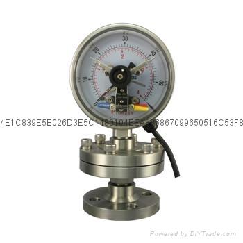 电接点隔膜压力表 6