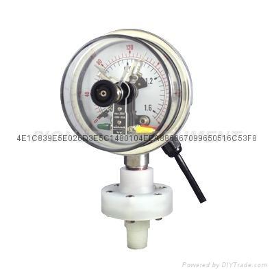 电接点隔膜压力表 8