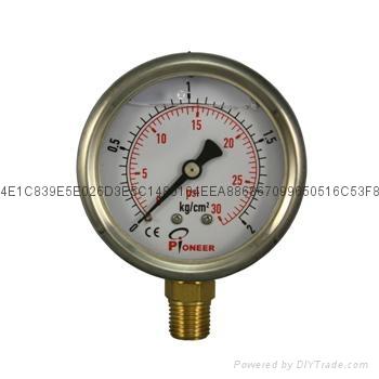 优质Pioneer牌63mm立式耐震压力表