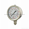 All stainless steel pressure gauge 4