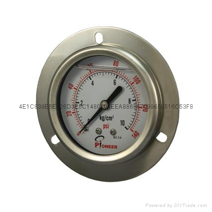 All stainless steel pressure gauge 5