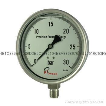 不锈钢精密压力表 11