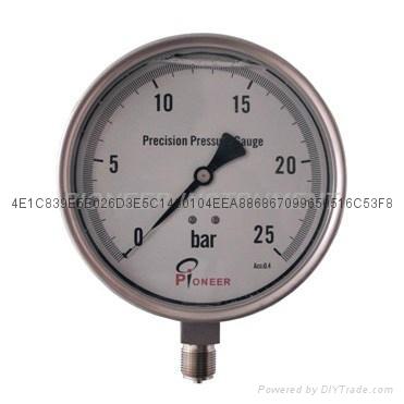 不锈钢精密压力表 14