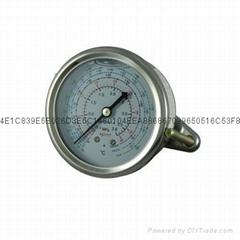 耐震冷媒压力表