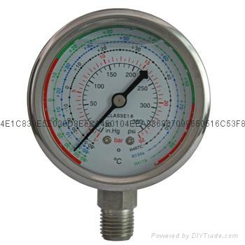 耐震冷媒压力表 4