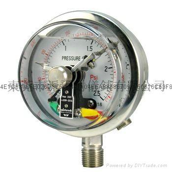 全不锈钢耐震电接点压力表 5