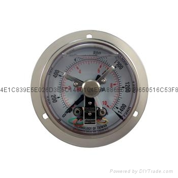 全不锈钢耐震电接点压力表 1